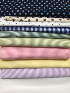 配色條紋圓點布料